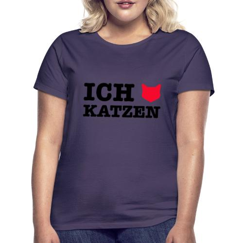 Ich liebe Katzen mit Katze als Herz - Frauen T-Shirt