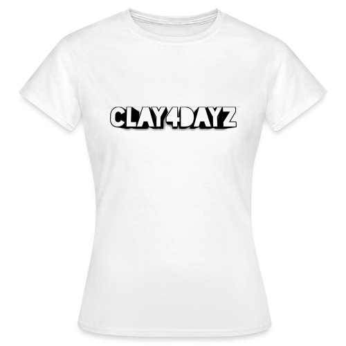 CLAY 4 DAYZ: RECTANGULAR LOGO (BLACK & WHITE) - Women's T-Shirt