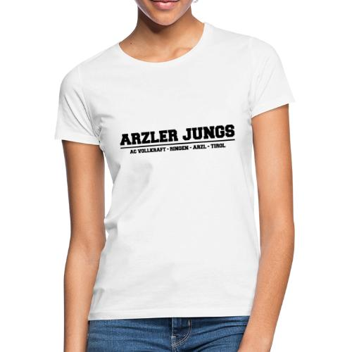 Arzler Jungs Schriftzug in Schwarz - Frauen T-Shirt