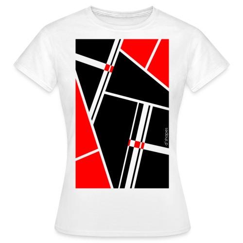 d'shapes black red - Maglietta da donna