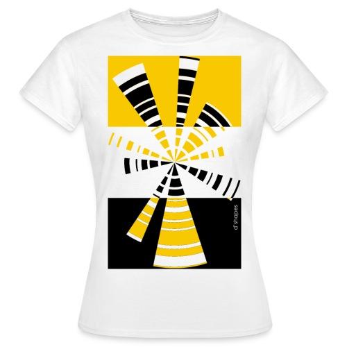 d shapes radio giallo - Maglietta da donna