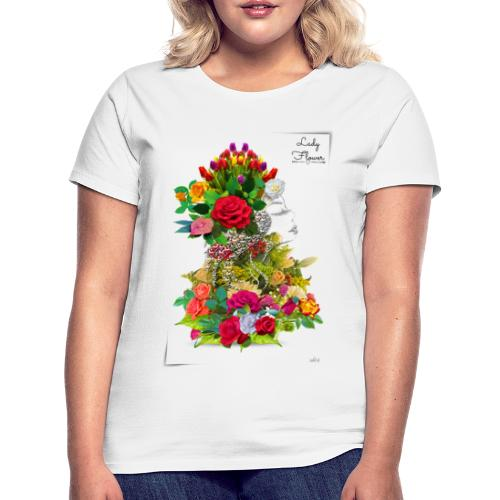 Lady flower -by- T-shirt chic et choc - T-shirt Femme