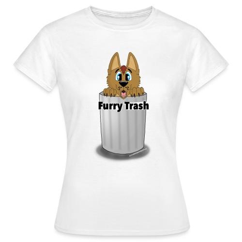 Furry Trash - Dame-T-shirt