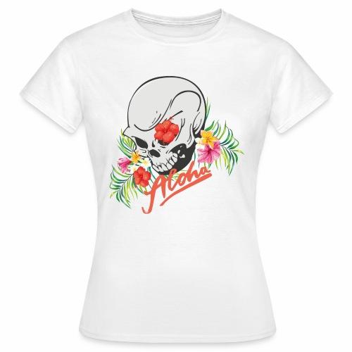 Hawaiian Skull Aloha Surfer Design - Frauen T-Shirt