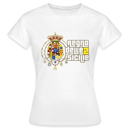 regno delle 2 sicilie testo bianco - Maglietta da donna