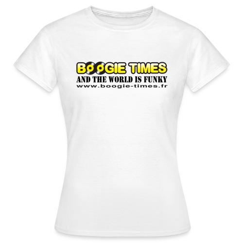 WORLD IS FUNKY ts white - Women's T-Shirt