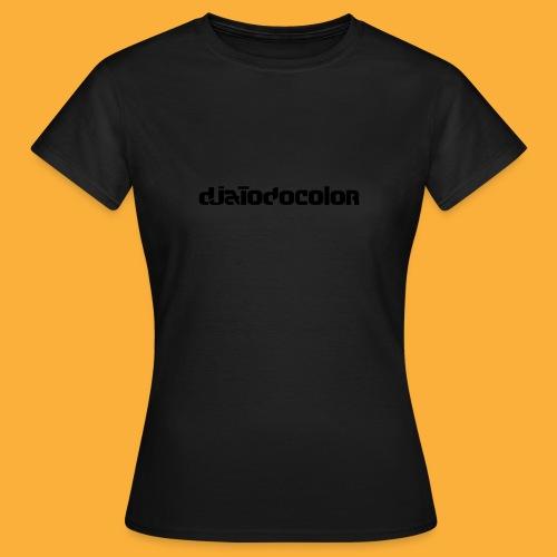 DJATODOCOLOR LOGO NEGRO - Camiseta mujer