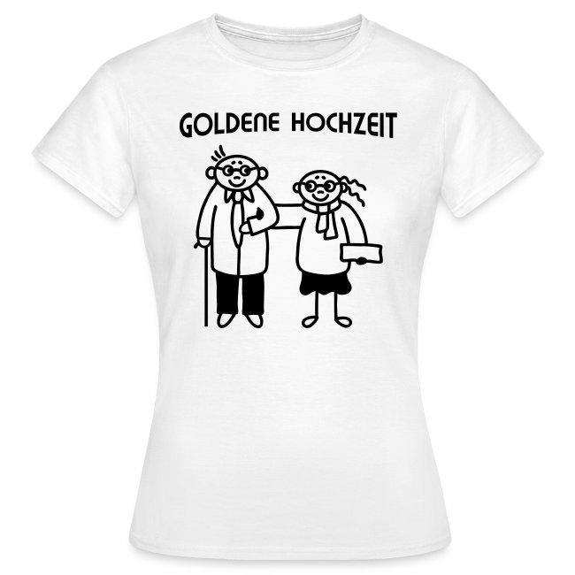 Goldene Hochzeit Paar Frauen T Shirt