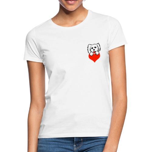 caniche heart - T-shirt Femme