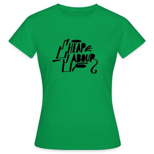 Cheap Labour Basic Logo (Black on White) - T-shirt dam