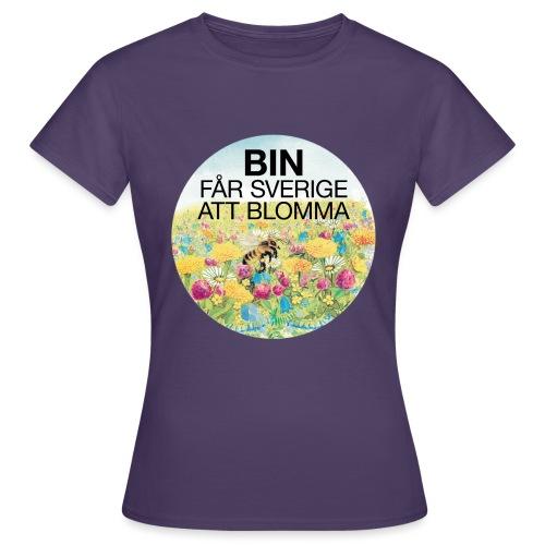Bin får Sverige att blomma - T-shirt dam
