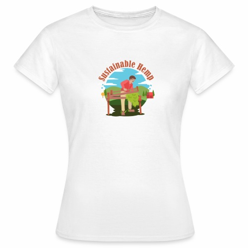 Cáñamo Sustentable en Inglés (Sustainable Hemp) - Camiseta mujer