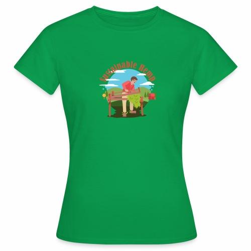 Cáñamo Sustentable en Inglés (Sustainable Hemp) - Camiseta mujer