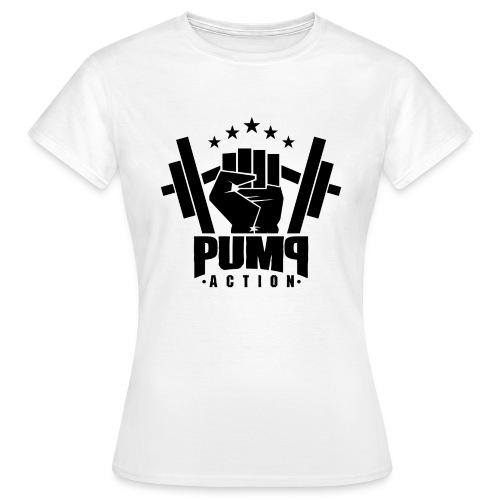 PUMP-ACTION LOGO BLACK - Frauen T-Shirt