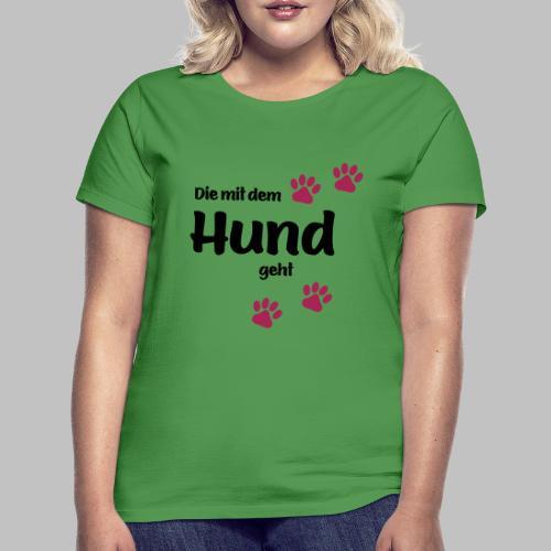 Die Mit Dem Hund Geht - Edition Colored Paw - Frauen T-Shirt