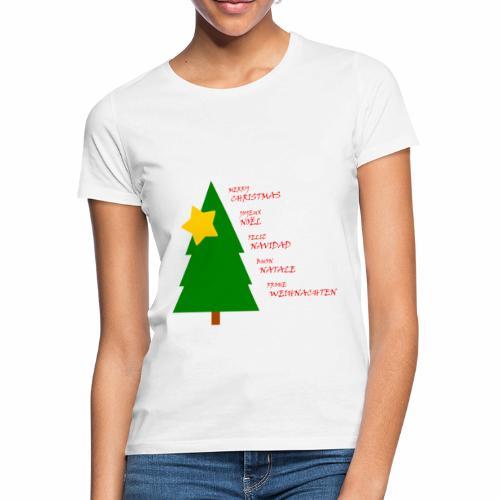 Merry Christmas Joyeux Noël Feliz Navidad - T-shirt Femme