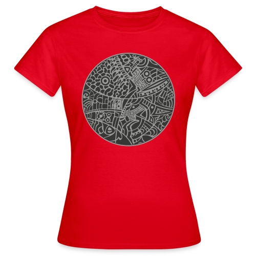 GlobeDesign-grey - Dame-T-shirt