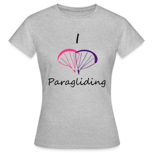 I Love Paragliding V2 - Women's T-Shirt