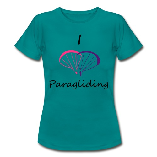 I Love Paragliding V2 - Women's T-Shirt