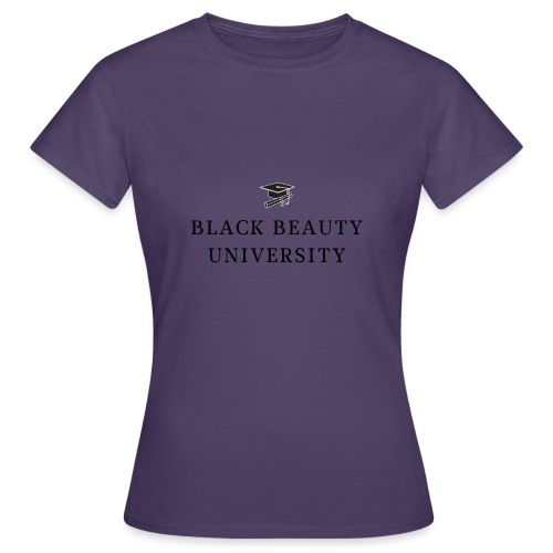 BLACK BEAUTY UNIVERSITY LOGO BLACK - T-shirt Femme