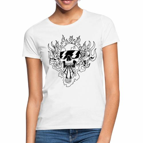 Skull on Fire - Frauen T-Shirt