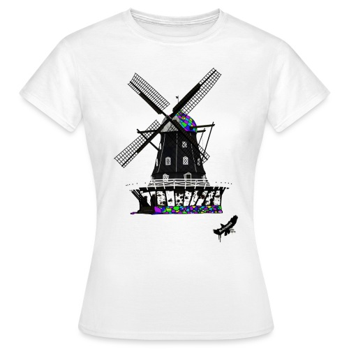 Windmill by BlackenedMoonArts, with logo - Dame-T-shirt