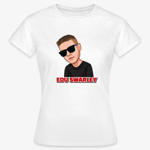 gezeichneter Edu Swarley weiß - Frauen T-Shirt