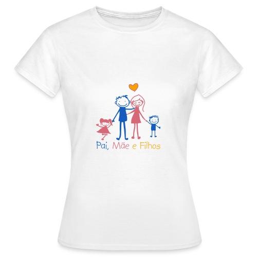 Pai Mãe e Filhos - Women's T-Shirt