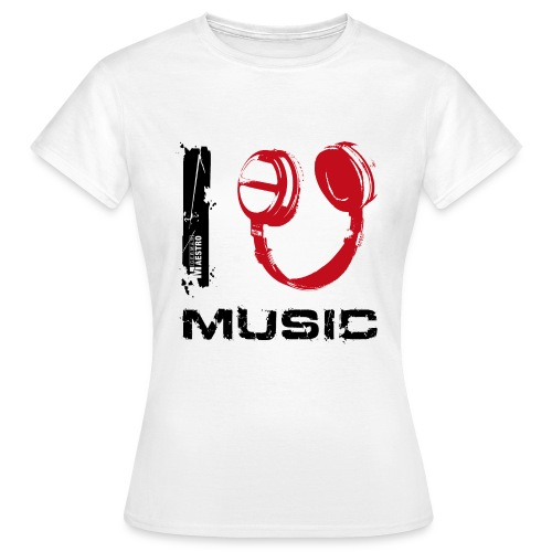 i 450p music txt black - Women's T-Shirt