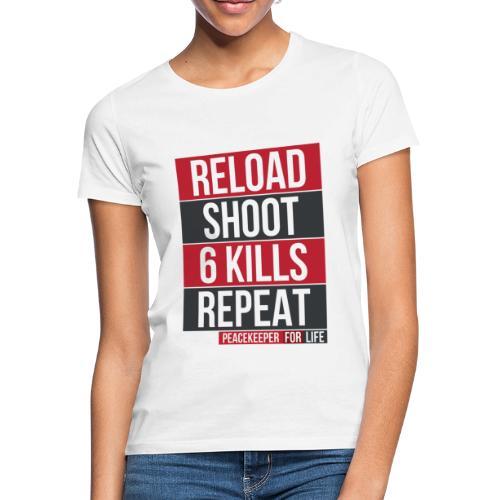 Apex Legends - Peacekeeper reload shoot - Fanart - T-shirt Femme