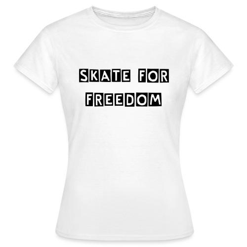 skateforfreedomcutter - Frauen T-Shirt