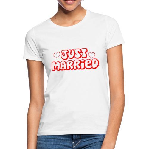 JUST MARRIED Partner Namen rot - Frauen T-Shirt