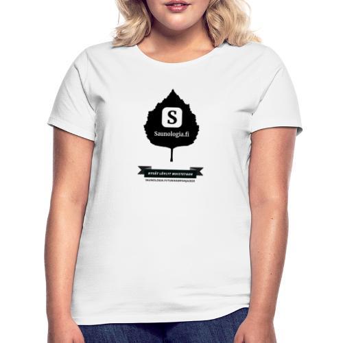 Saunologia.fi - koivun lehti - valkoinen - Naisten t-paita
