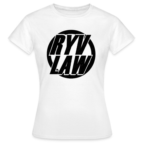 schwarze Schrift auf weiß gif - Frauen T-Shirt