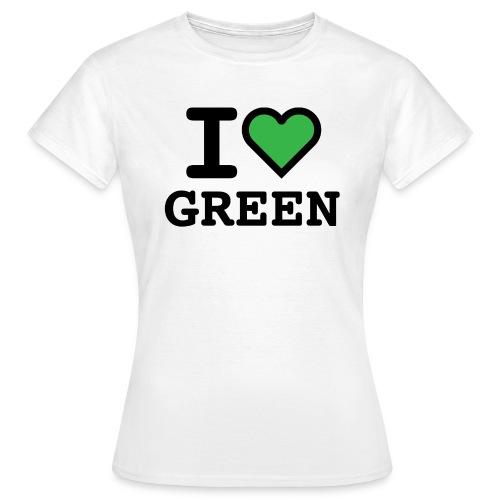 i-love-green-2.png - Maglietta da donna