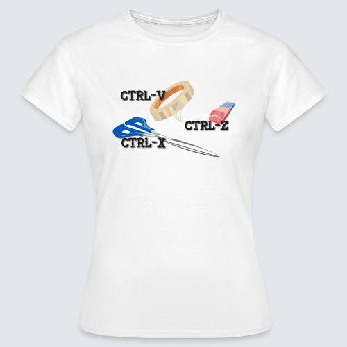 ctrl-c ctrl-x ctrl-z - Frauen T-Shirt