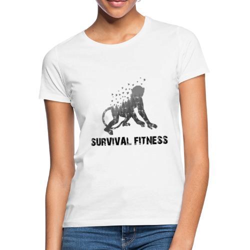 Survival Fitness Logo Schwarz - Frauen T-Shirt