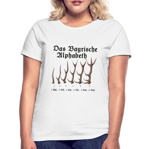 Das Bayrische Alphabet aus Bayern - Frauen T-Shirt