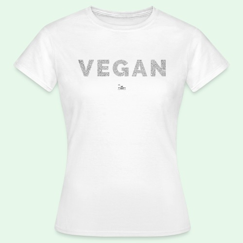 Vegan - Black - T-shirt dam