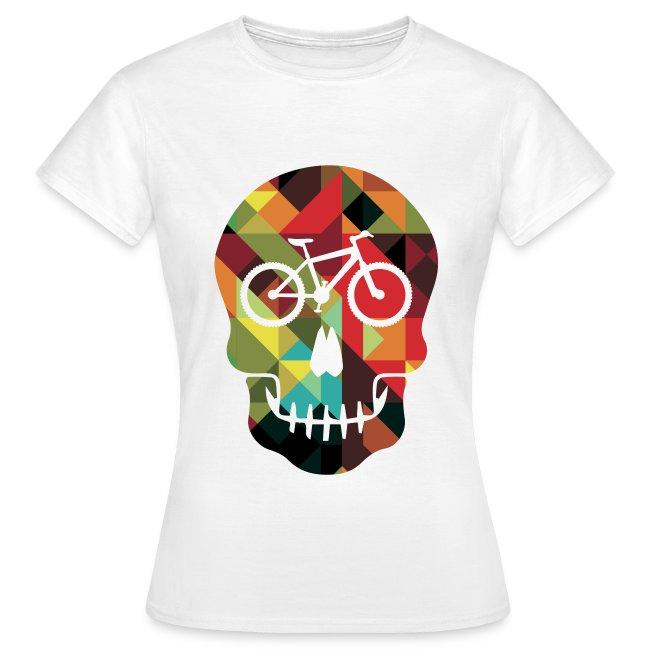 Colored Skull of Biker