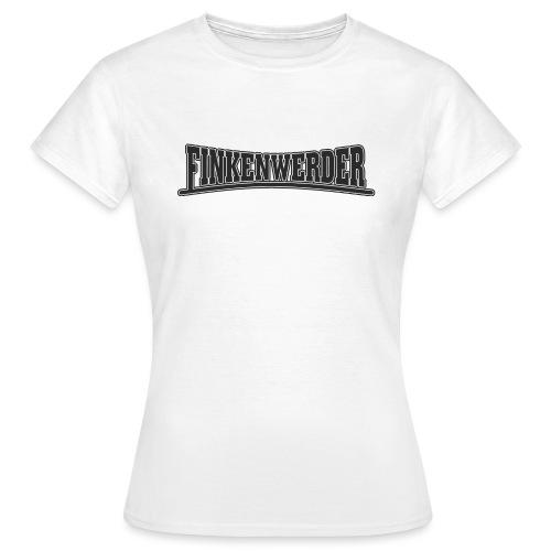 Finkenwerder schwarz - Frauen T-Shirt