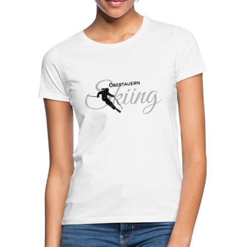 Obertauern Skiing (Grau) Apres-Ski Skifahrerin - Frauen T-Shirt