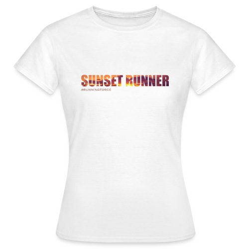 Sunset Runner - @RUNNINGFORCE - Frauen T-Shirt