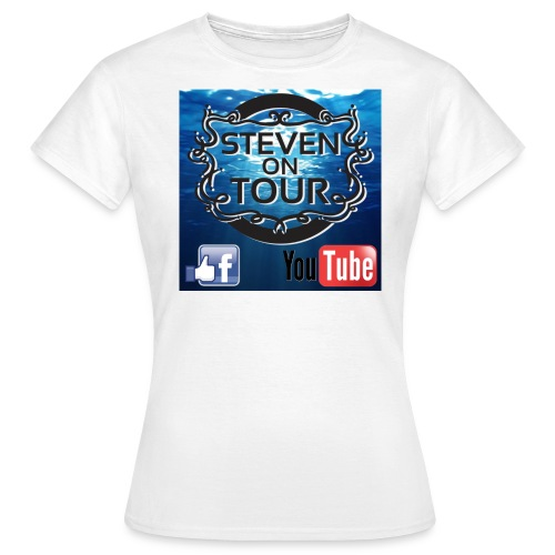 T Shirt Logo mit Meer schwarz FB YT png - Frauen T-Shirt