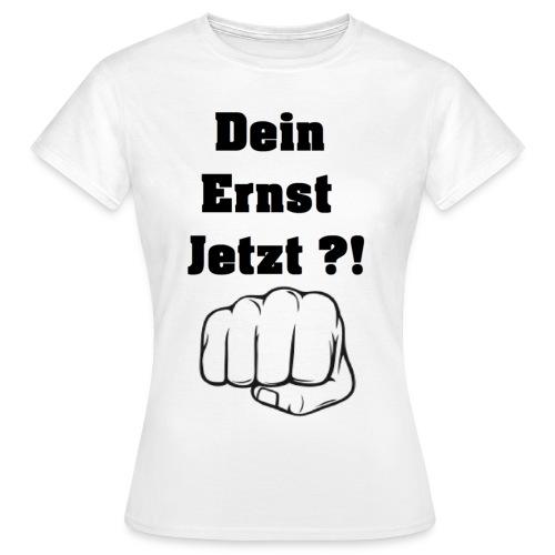 Faust mit Spruch 2 weißes TShirt gif - Frauen T-Shirt