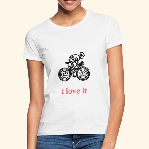 I love my bicycle - Koszulka damska