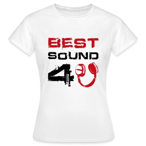 best sound 4u 450p txt black hp red - Women's T-Shirt
