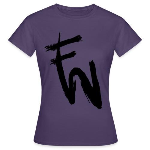 FW svart tryck - T-shirt dam