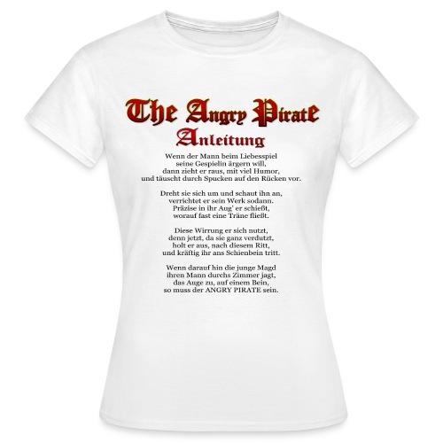 The Angry Pirate (Anleitung als Gedicht) schwarz - Frauen T-Shirt