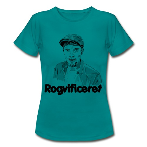 Rogvificeret merch - Sort tekst. - Dame-T-shirt